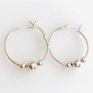 925 Sterling Silver Earrings Hoops 2g